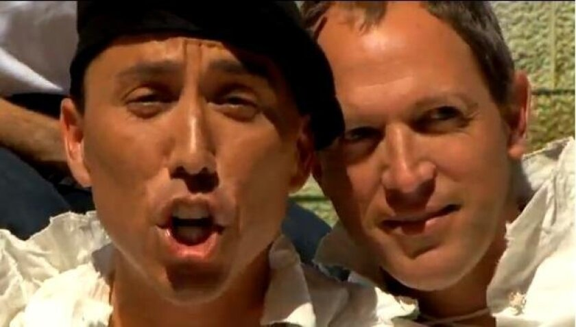 San Diego City Council President Todd Gloria and San Diego state Assemblyman Brian Maienschein in Les Mis.