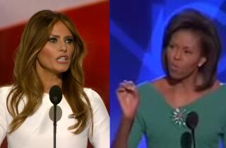 Similarities surface between Melania Trump's and Michelle Obama's convention speeches