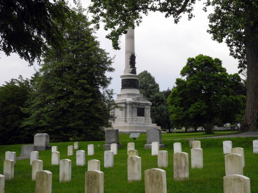 """""""The brave men, living and dead who struggled here have consecrated it far above our poor power to add or detract,"""" Lincoln said in his Gettysburg Address."""