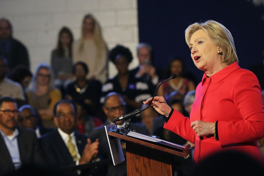 """Hillary Clinton holds """"Corridor of Opportunity"""" town hall in South Carolina"""