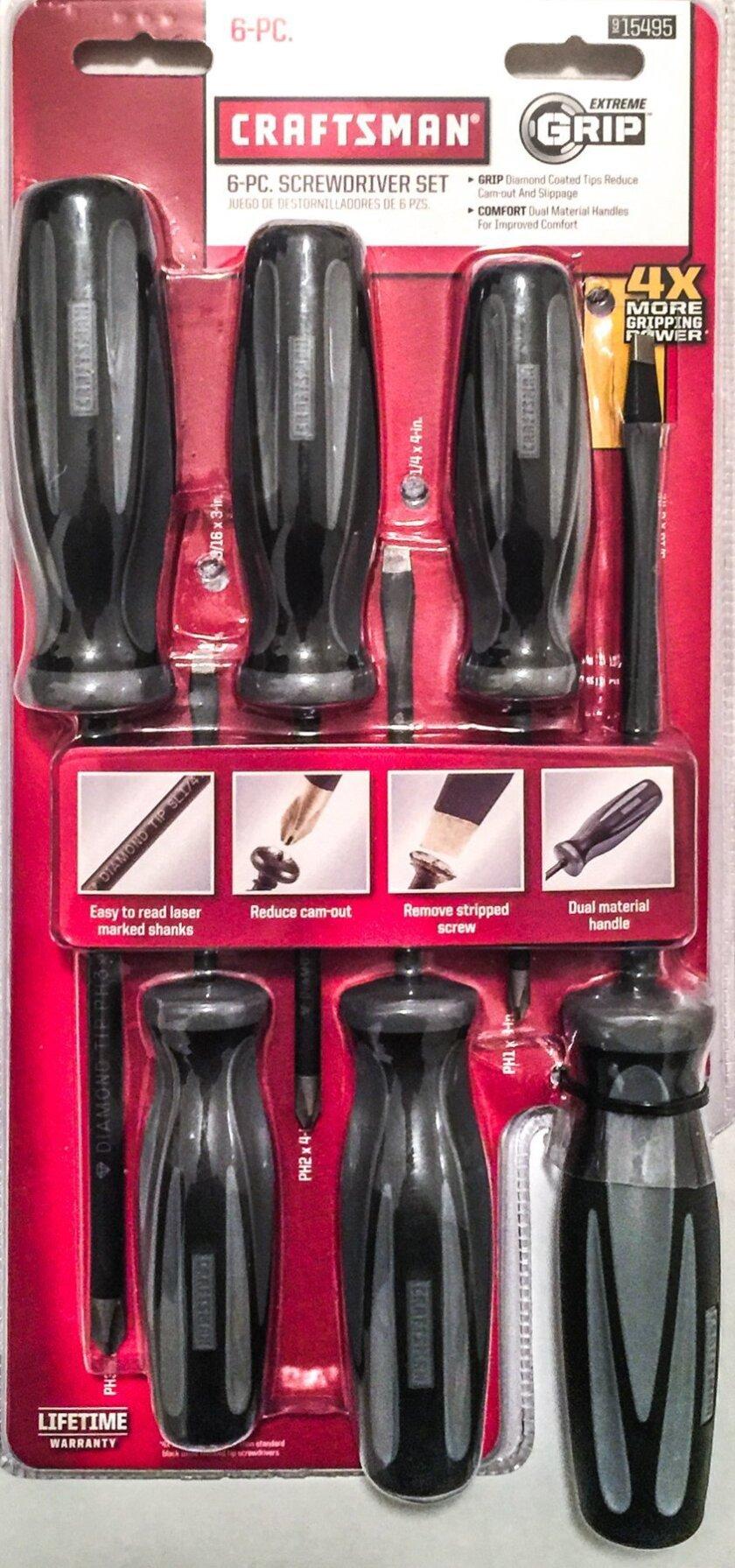 "Craftsman ""Extreme Grip"" screwdrivers"