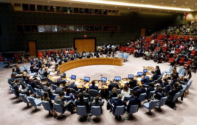 El Consejo de Seguridad de la ONU convoca una reunión sobre el conflicto palestinoisraelí, en la sede de la ONU en Nueva York (EE.UU), el 24 de julio de 2018. EFE/Archivo