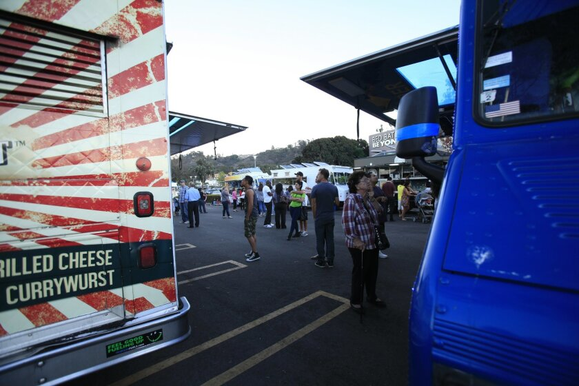 Food trucks at Westfield Mission Valley Mall recently.