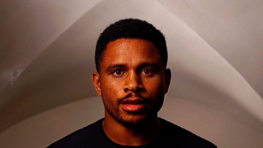 """WEST HOLLYWOOD, CA-AUGUST 7, 2017: Nnamdi Asomugha, star and producer of the movie """"Crown Heights,"""""""