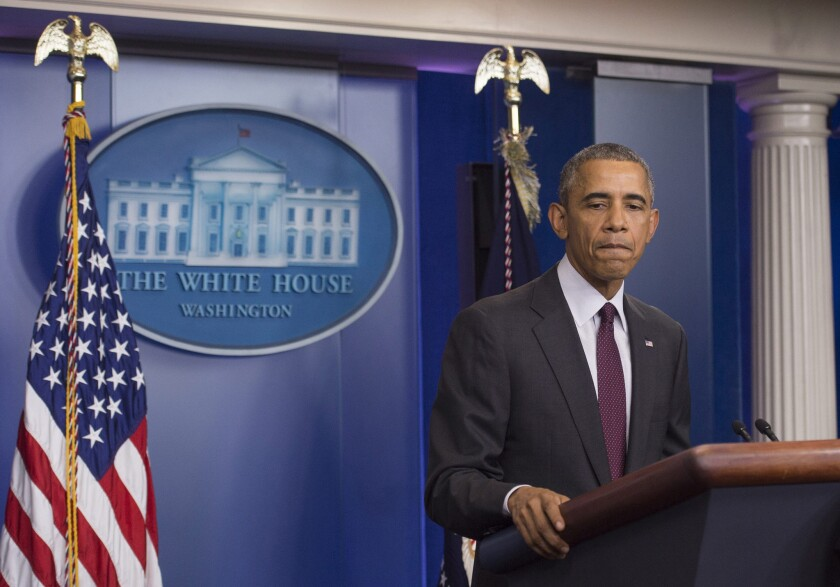 President Obama speaks Oct. 1 at the White House on the shooting at Oregon's Umpqua Community College.