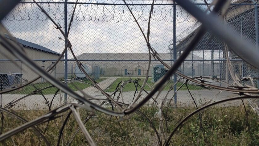 The shuttered Willacy County Correctional Facility in Raymondville, TX.