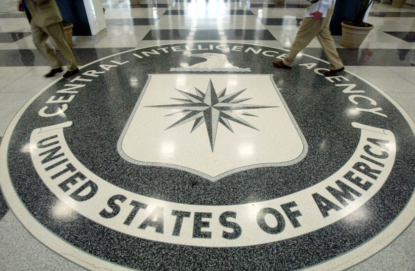 Legislation proposed by Sens. John McCain and Dianne Feinstein would codify a 2009 order by President Obama requiring all U.S. interrogators, including those in the CIA, to abide by the Army Field Manual's prohibition of torture. Above, the CIA symbol on the floor of CIA Headquarters in Langley, Va.
