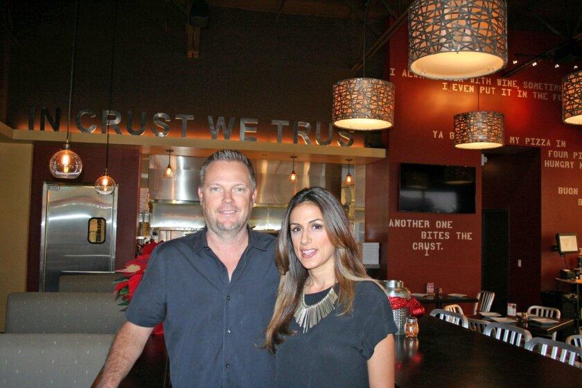 Matt and Kimia Othick opened Crust Pizzeria in Torrey Hills.