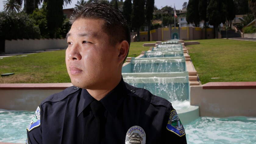 Monterey Park Police officer Bob Hung is the only Chinese-speaking cop on patrol.