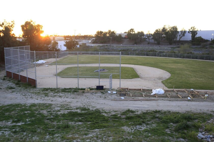 Eleven years after the site was closed to mitigate underground contamination, French Field is close to ready for kids to start playing there again. The site is the home of Vista American Little League, and league officials are eager to get required work completed, including building dugouts.