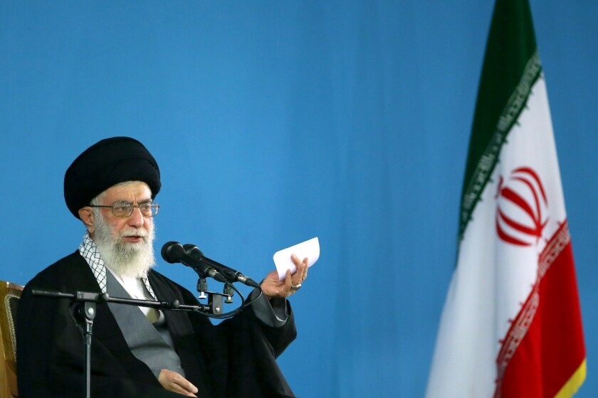 Iran's supreme leader, Ayatollah Ali Khamenei, insists that any nuclear agreement must commit the United States and other countries to lift all economic sanctions from Iran immediately.