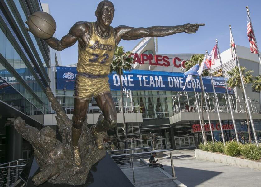 Outside Staples Center