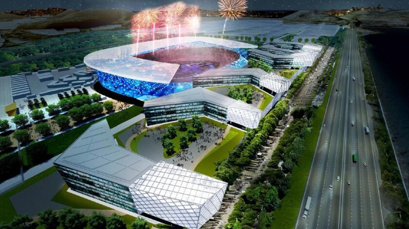 Proposed Olympic stadium rendering