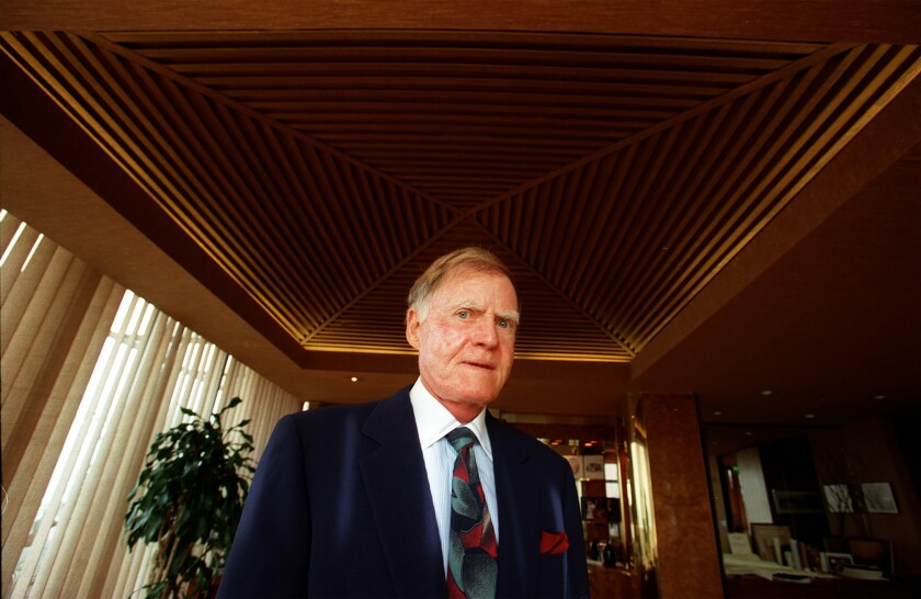 Real Estate developer Jerry Snyder is seen in his West Los Angeles penthouse office in 1997.