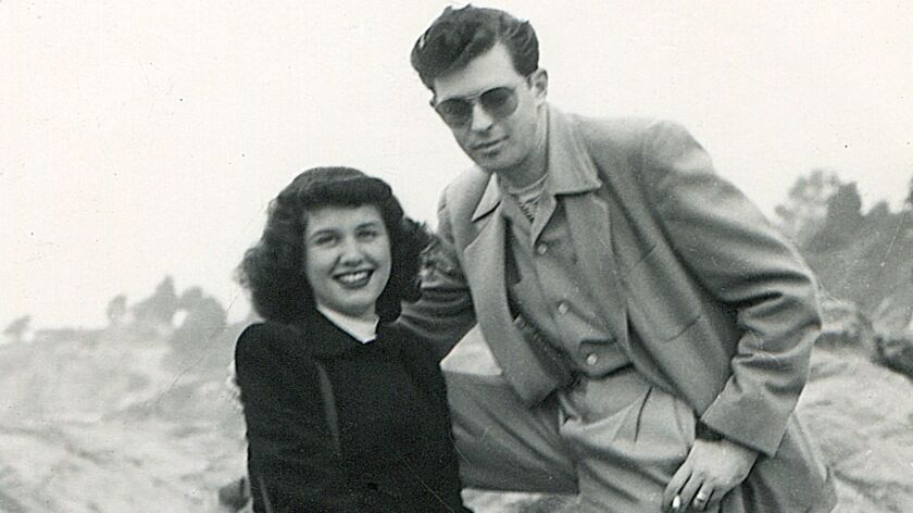 "Lillian and Harold Michelson in Los Angeles in December 1947 in Daniel Raim's documentary, ""Harold and Lillian: A Hollywood Love Story."""