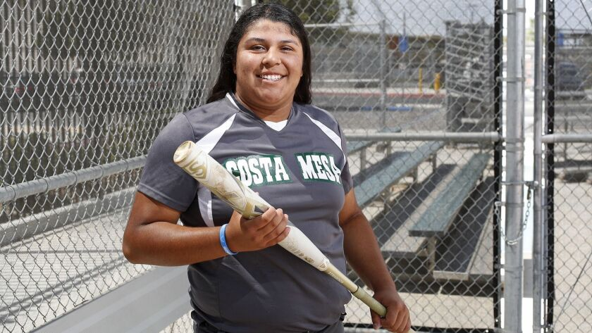 Costa Mesa High senior outfielder Katie Belmontes is the Daily Pilot High School Female Athlete of t