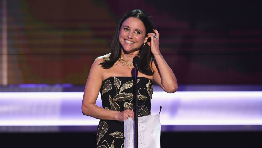 LOS ANGELES, CA - JANUARY 29: Actor Julia Louis-Dreyfus accepts Outstanding Performance by a Female