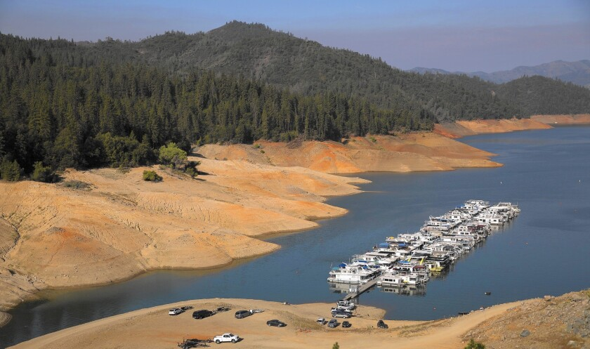 Lake Shasta depleted