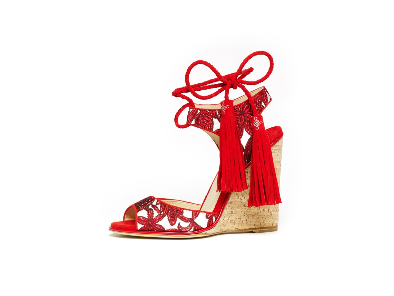 The Tianjin dragon red shoe from Paul Andrew's pre-spring 2016 collection was inspired by a trip to Hong Kong. The New York-based designer was visiting L.A. last week to show the collection to celebrity stylists and make a push for red carpet dressing.