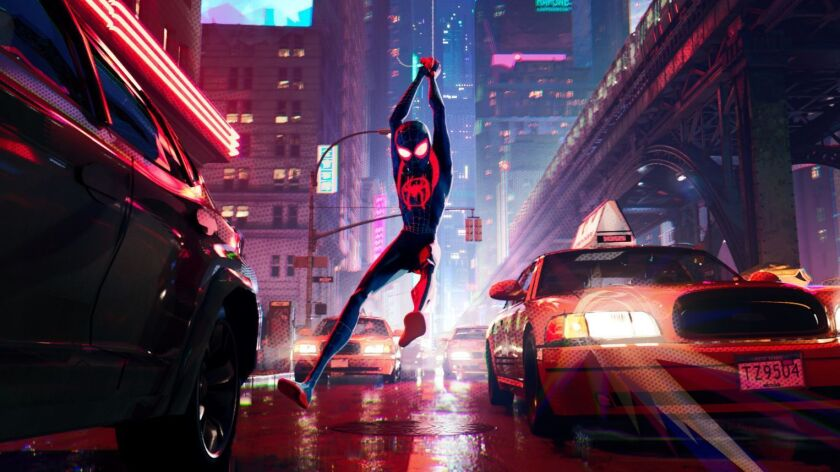 """Miles Morales (Shameik Moore) Columbia Pictures and Sony Pictures Animation's """"SPIDER-MAN: INTO THE"""