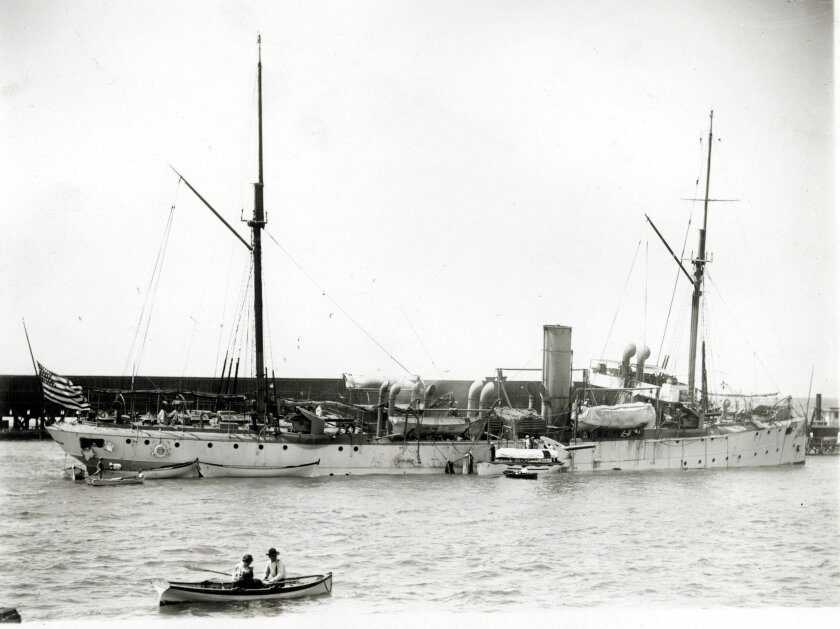 The USS Bennington around the time of the explosion.