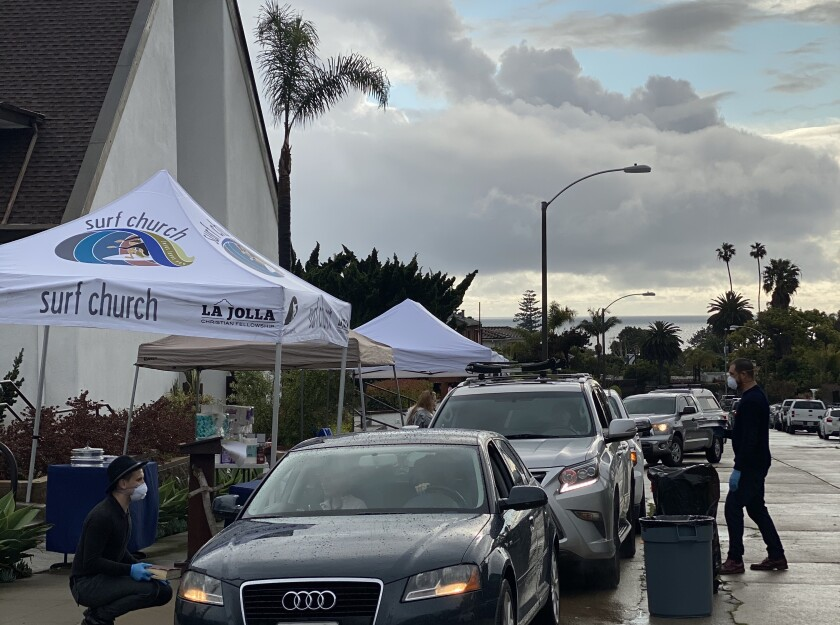 More than 100 cars participate in La Jolla Christian Fellowship's 'Drive-in Good Friday,' 5-6 p.m. April 10 along Genter Street.