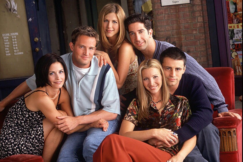 Clockwise from left: Courteney Cox, Matthew Perry, Jennifer Aniston, David Schwimmer, Matt LeBlanc and Lisa Kudrow.