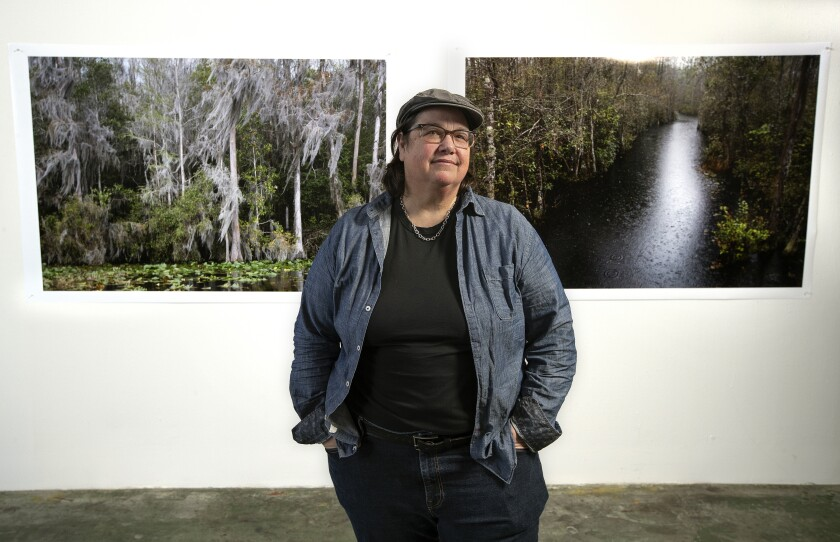 Artist Catherine Opie in her Los Angeles studio.
