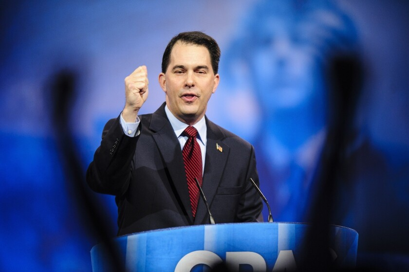 Wisconsin Gov. Scott Walker speaks to the 2013 Conservative Political Action Conference.