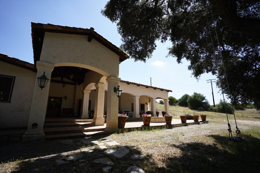 San Diego home prices continued to rise in March. Part of the market experienced an increase in luxury home sales. Pictured: A $8.9 million ranch in Alpine that went on the market a few weeks ago. Real estate agents say there are many affluent buyers looking for isolated properties.