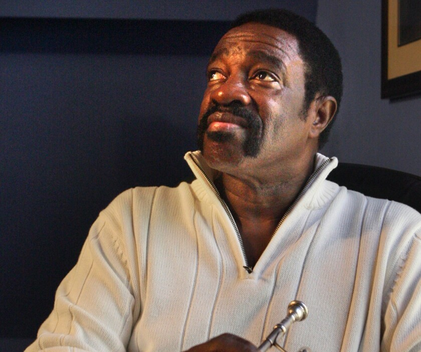 Trumpeter Ben Cauley is shown at his home studio in Memphis in 2007. In addition to Otis Redding, Cauley played with Isaac Hayes, Aretha Franklin, the Doobie Brothers and many others.