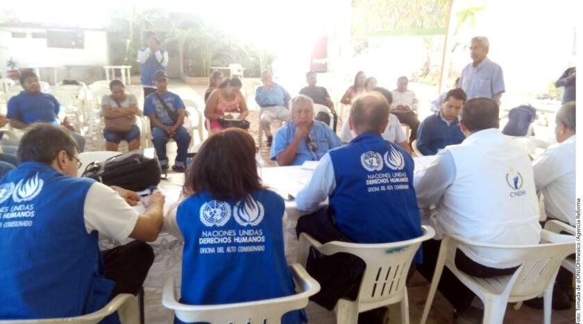 La Oficina en México del Alto Comisionado de Naciones Unidas para los Derechos Humanos (ONUDH) y la Comisión Nacional de los Derechos Humanos (CNDH) supervisan la situación de derechos humanos en Guerrero.
