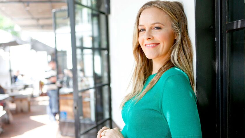 Alicia Silverstone stops in at the vegan restaurant Gracias Madre in West Hollywood.
