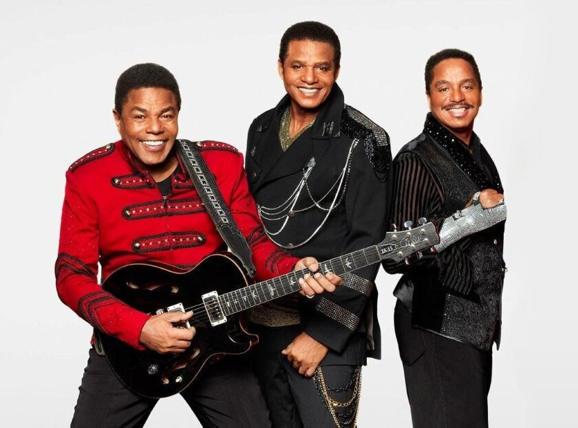 The Jacksons — (from left) Tito, Jackie and Marlon.