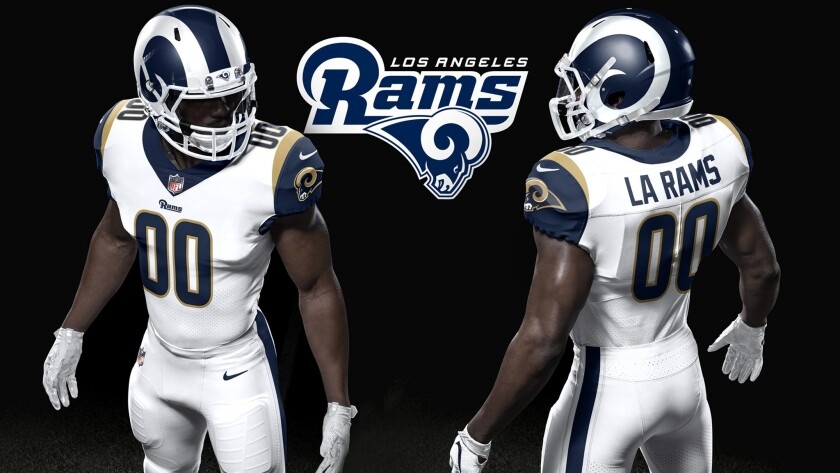 Rams Unveil Redesigned Home Uniform And Helmet For 2017 Los Angeles Times