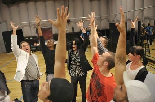 Michael Jackson rehearsal