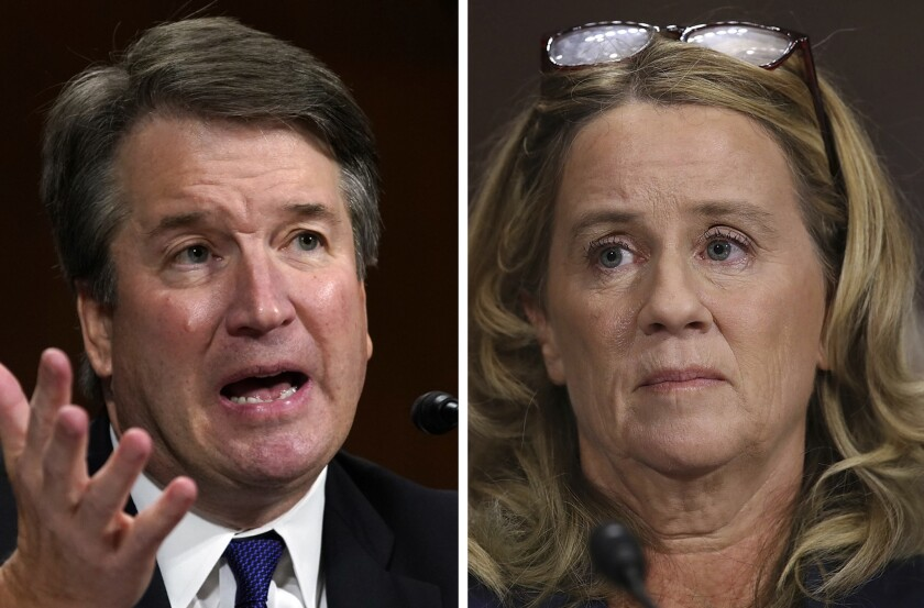 Brett Kavanaugh and Christine Blasey Ford testified before the Senate Judiciary Committee on Capitol Hill in Washington on Thursday.