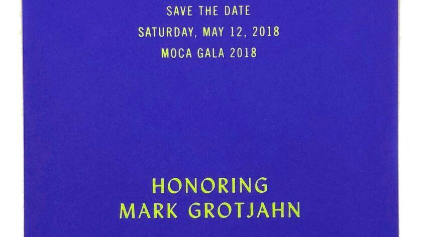la-et-cm-mark-grotjahn-moca-gala--Mark Grotjahn was supposed to be MOCA's 2018 gala honoree – th