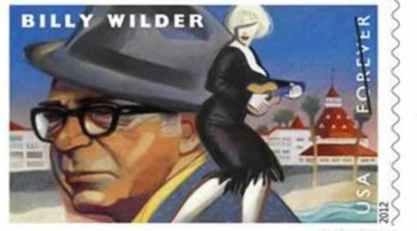 In May, the U.S. Postal Service issued a Billy Wilder stamp that shows the director, Marilyn Monroe and the Del on it.
