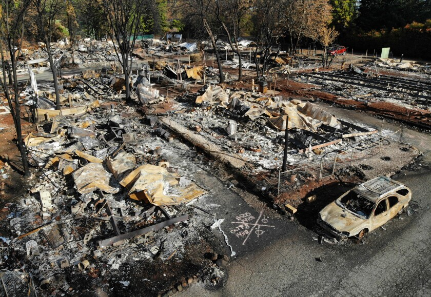 Pine Grove Mobile Home Park were destroyed in the Nov. 2018 Camp fire