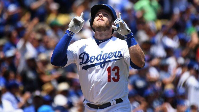 Max Muncy, primera base de los Dodgers de Los Ángeles.