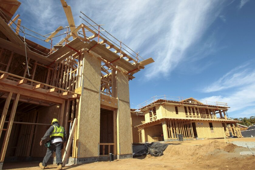 CARLSBAD, February 10, 2016 | Two model homes under construction at Lanai by Shea Homes, a twenty homes  development in Carlsbad on Wednesday.  | -Mandatory Photo Credit: Photo by Hayne Palmour IV/San Diego Union-Tribune, LLC