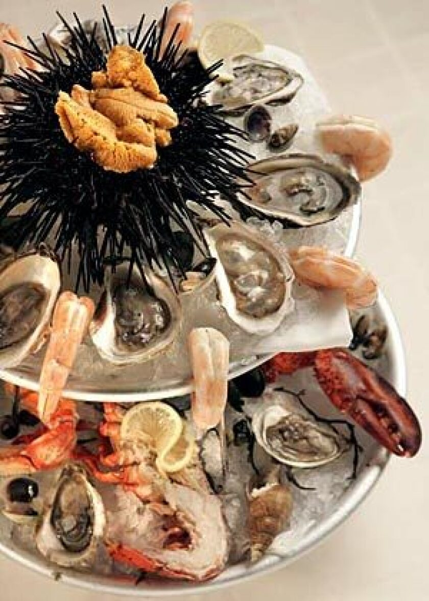 This dazzling seafood platter can be assembled at home.