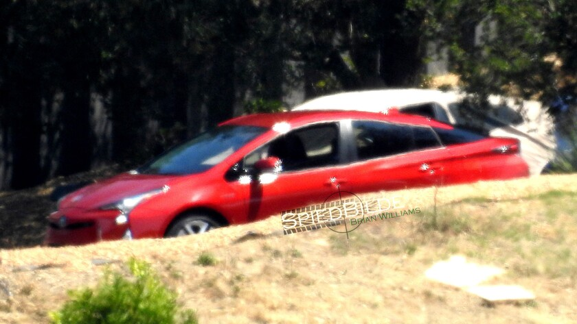 The 2016 Toyota Prius, caught at a photo shoot in Malibu ahead of its Sept. 8 reveal in Las Vegas.