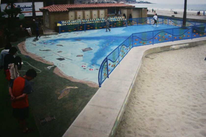 A Friends of La Jolla Shores rendering for the new Map installation.