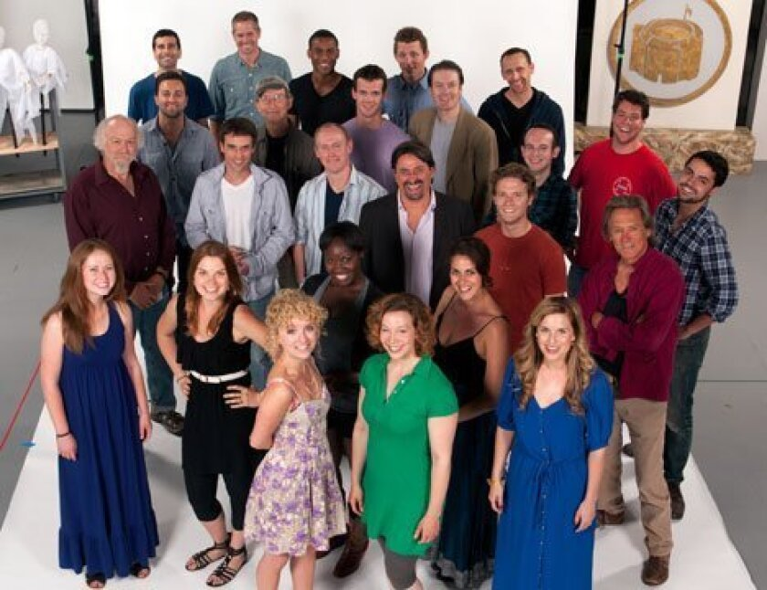 The cast of the Old Globe Theatre's 2011 Summer Shakespeare Festival.