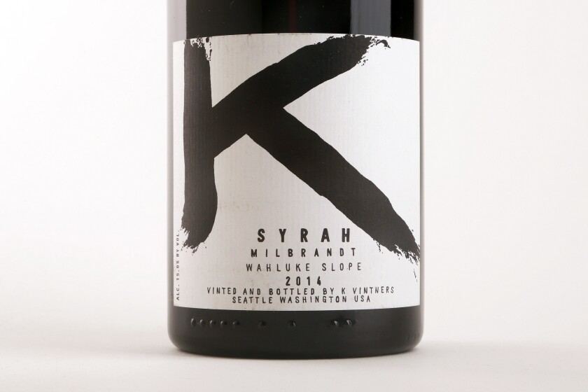 "Wine critic Robert Parker called the 2014 K Milbrandt Syrah, ""probably the greatest vintage of this cuvee to date."""