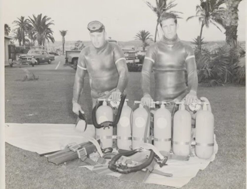 As SCUBA diving became more popular at the Cove, lifeguards were given similar equipment for use during a rescue.
