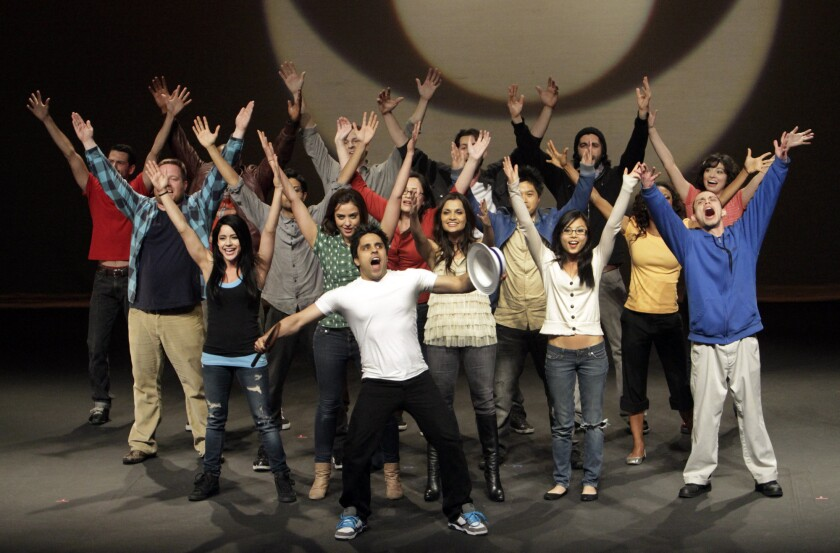 The cast of the 2012 CBS Diversity Showcase, spotlighting young performers of color.