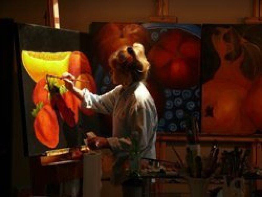 Artist Anne Swan Moore painting